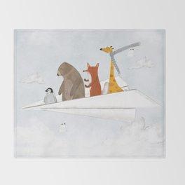plane sailing Throw Blanket