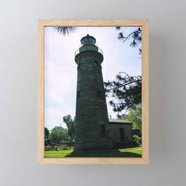 Erie Land Lighthouse Framed Mini Art Print