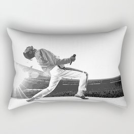 Freddie of Queen at Wembley 1986 Rectangular Pillow
