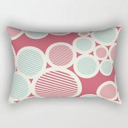 Stripes Circles Rectangular Pillow