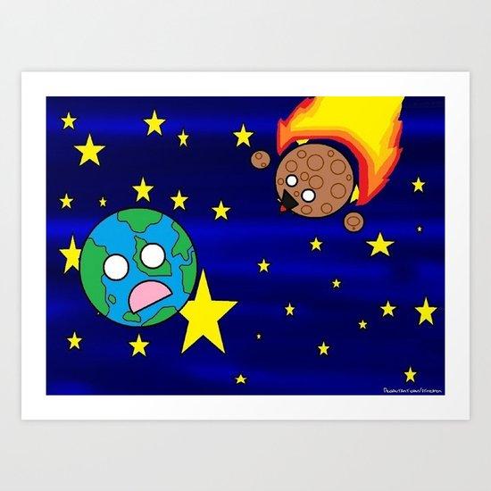 Give the world a hug  Art Print