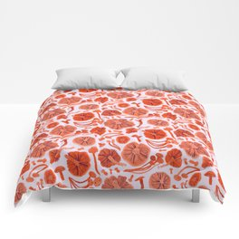 Belle Chanterelle, Orange Pop Comforters