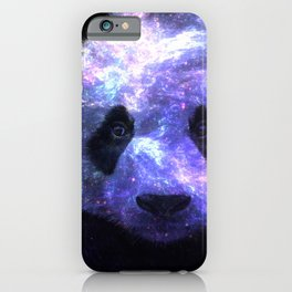 Galaxy Panda Space Colorful iPhone Case