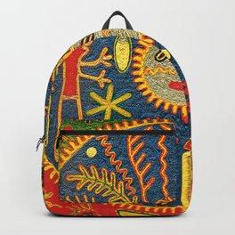 Peyote Sun Ritual Huichol Backpack