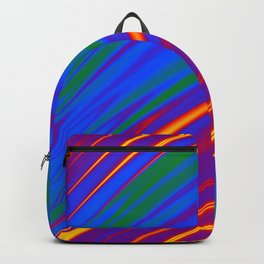 Gay Pride Rippling Satin Texture Backpack