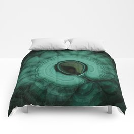 Malachite detailed pattern Comforters