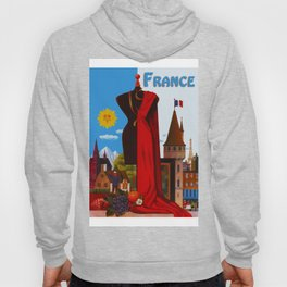 Vintage France Cityscape Travel Hoody