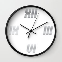 First of a series of 10 | TypoClocks | time fades | (digital roman numerals) Wall Clock