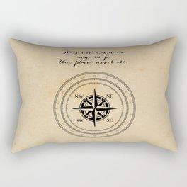 Moby Dick - Herman Melville - True Places Rectangular Pillow