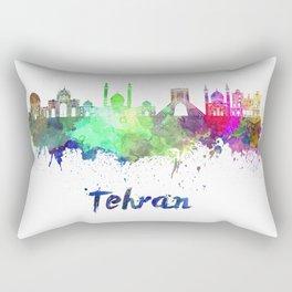 Tehran skyline in watercolor Rectangular Pillow