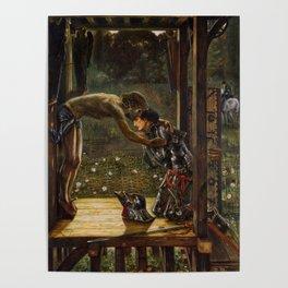 "Edward Burne-Jones ""The Merciful Knight"" Poster"