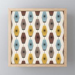 Mid Century Modern Pattern Framed Mini Art Print