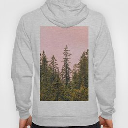 Tall trees against pink sky Hoody