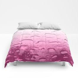 Water drops in Pink Comforters