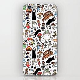 Kawaii Ghibli Doodle iPhone Skin