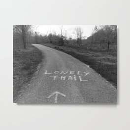 The Lonely Trail in the Woods Metal Print