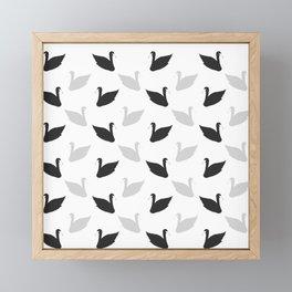 swans motif  Framed Mini Art Print