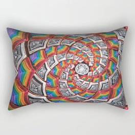 Tunnel To The Moon Rectangular Pillow