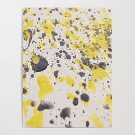 Yellow Grey Classic Abstract Art Poster