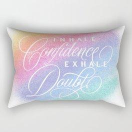 Inhale / Exhale (on white) Rectangular Pillow