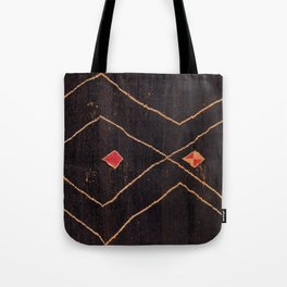 Feiija  Antique South Morocco North African Pile Rug Print Tote Bag