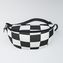 Black & White Checker Checkerboard Checkers Fanny Pack
