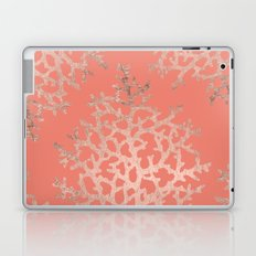 Faux rose gold coral sea hand drawn pattern salmon pattern Laptop & iPad Skin