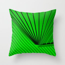 Lime Lines Study Throw Pillow