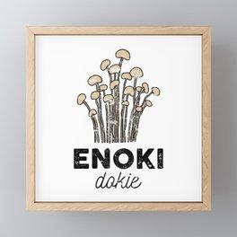 Enoki Dokie Framed Mini Art Print