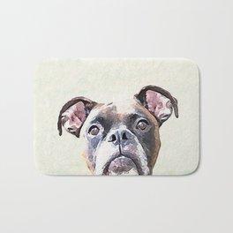 Brindle Boxer Dog Badematte