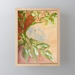 Leaves of Green Abstract Painting Framed Mini Art Print