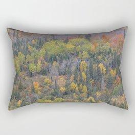 Detail of Peak Fall Colors in Northern Minnesota Rectangular Pillow