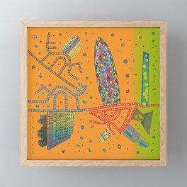 Fusion City The Gherkin Framed Mini Art Print