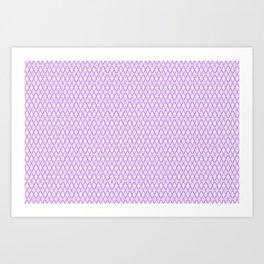 Crosshatch Purple Art Print