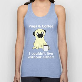 Pugs and Coffee Unisex Tank Top