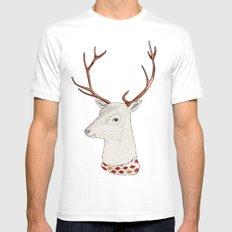 Dear deer. White Mens Fitted Tee MEDIUM