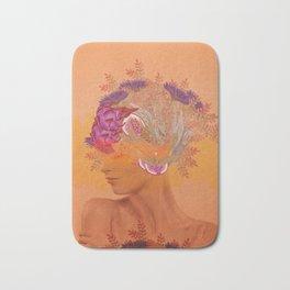 Woman in flowers III Bath Mat