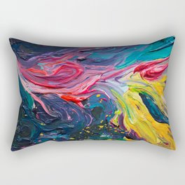 Bird Flower Rectangular Pillow