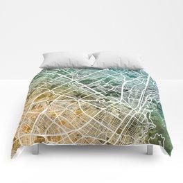 Bogota Colombia City Map Comforters
