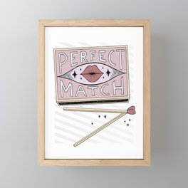 Perfect Match Framed Mini Art Print