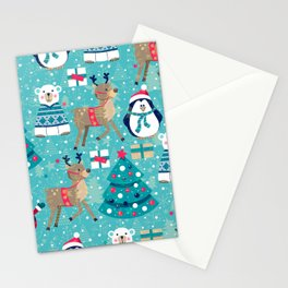 Winter Holidays Pattern Stationery Cards