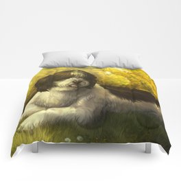 Jake: Sheepdog Portrait Comforters