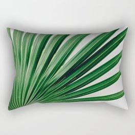 Palm Leaf Detail Rectangular Pillow