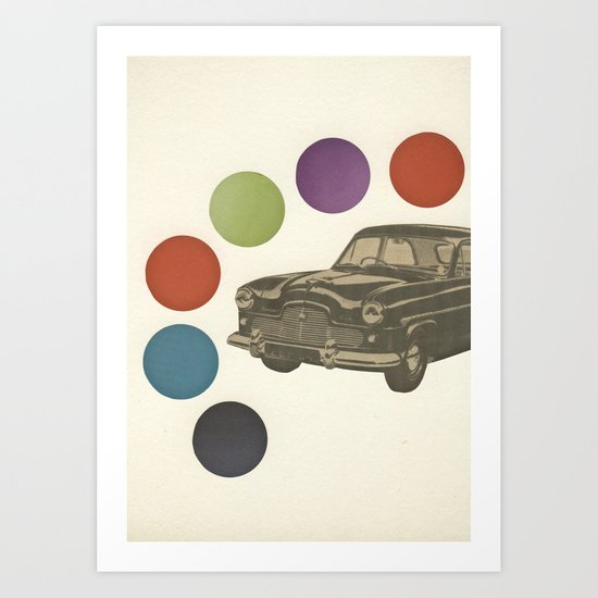 Driving Around in Circles Art Print
