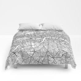 London Map White Comforters