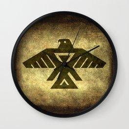 Symbol of the Anishinaabe, Ojibwe (Chippewa) on  parchment Wall Clock