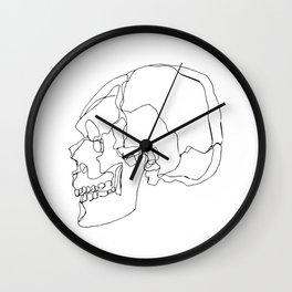 Cranial Bones Wall Clock