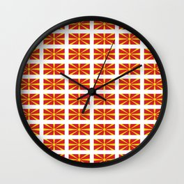 Flag of Macedonia 2 - Macedonian,skopje,Bitola,Kumanovo,Prilep,Balkan,Alexander the great,Karagoz Wall Clock