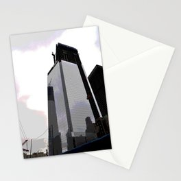 Black building Stationery Cards