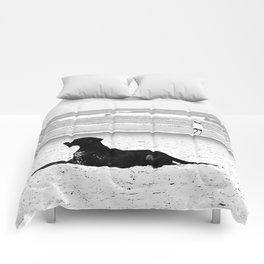 dog and child Comforters